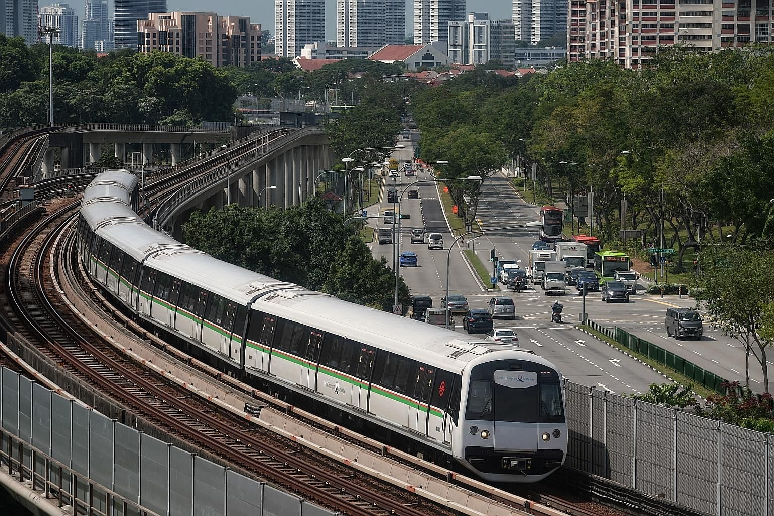A train on the North-South Line. The LTA attributed rail operators' poor financials to recent efforts to improve rail reliability that have increased their costs. The MRT network currently has one delay for every 1.6 million train-km clocked, compare