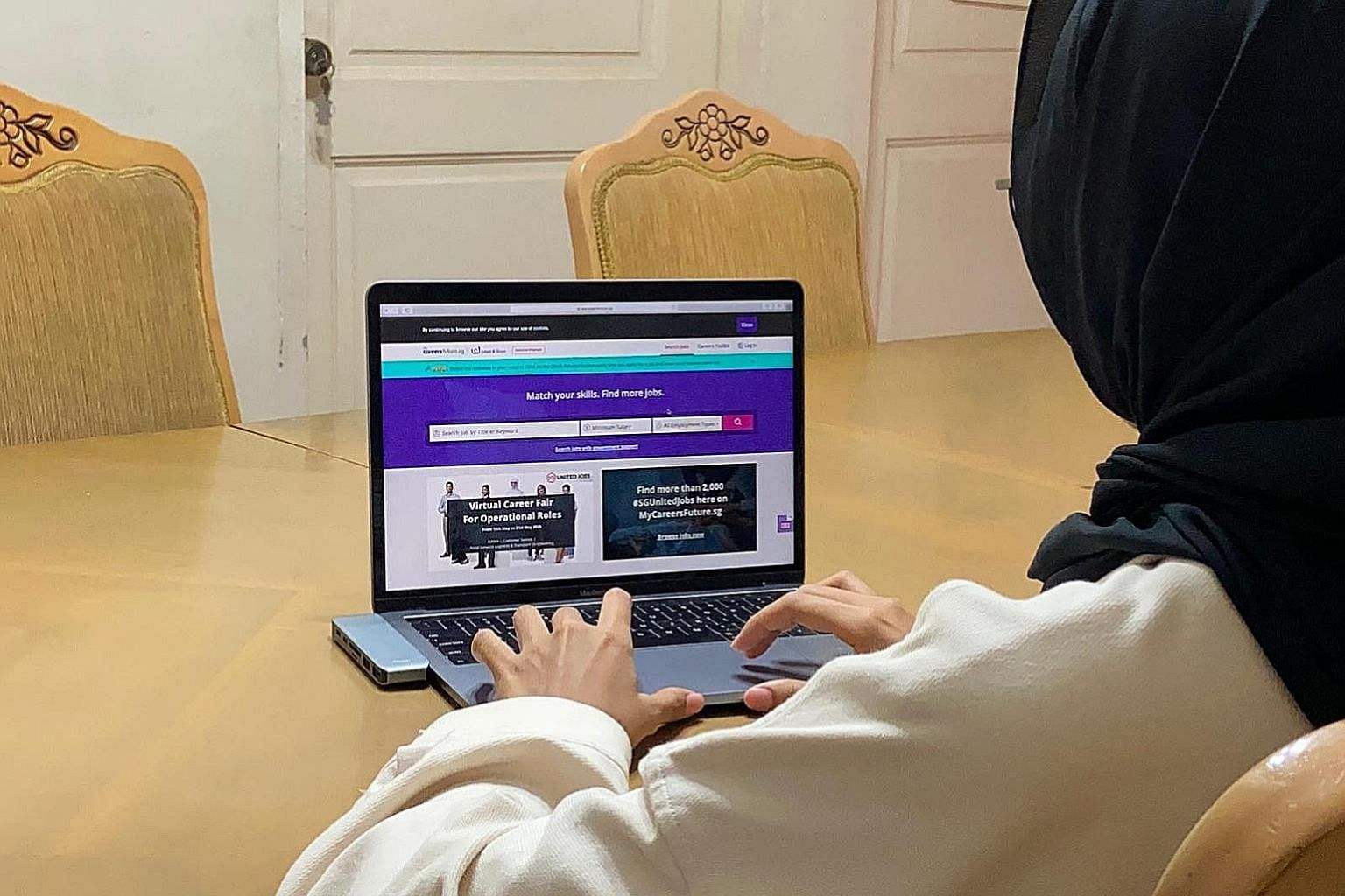 Many positions posted on the national jobs portal are in the technology and financial sectors, where some firms are still expanding their operations despite the pandemic-induced downturn. ST PHOTO: NORHAIZA HASHIM