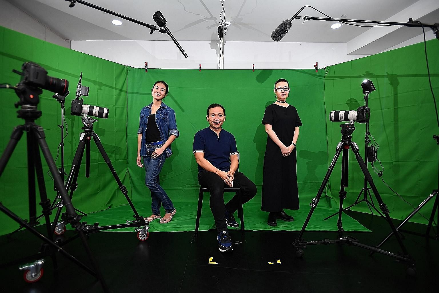 (From left) Arts practitioners Claire Teo, Peter Sau and Dawn-joy Leong at Very Special Arts Singapore. The three are panellists for the Arts & Disability Forum next month, where they will discuss inclusivity in the arts.