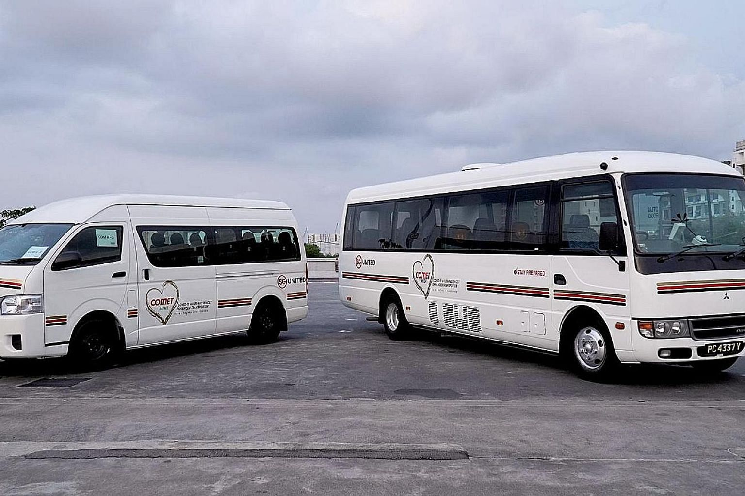 "The fleet comprises ""maxi"" vehicles, which are 32-seater and 45-seater coaches, 23-seater ""midi"" vehicles and nine-seater ""minis"". The vehicles' interior is separated into two compartments by a sealed divider."