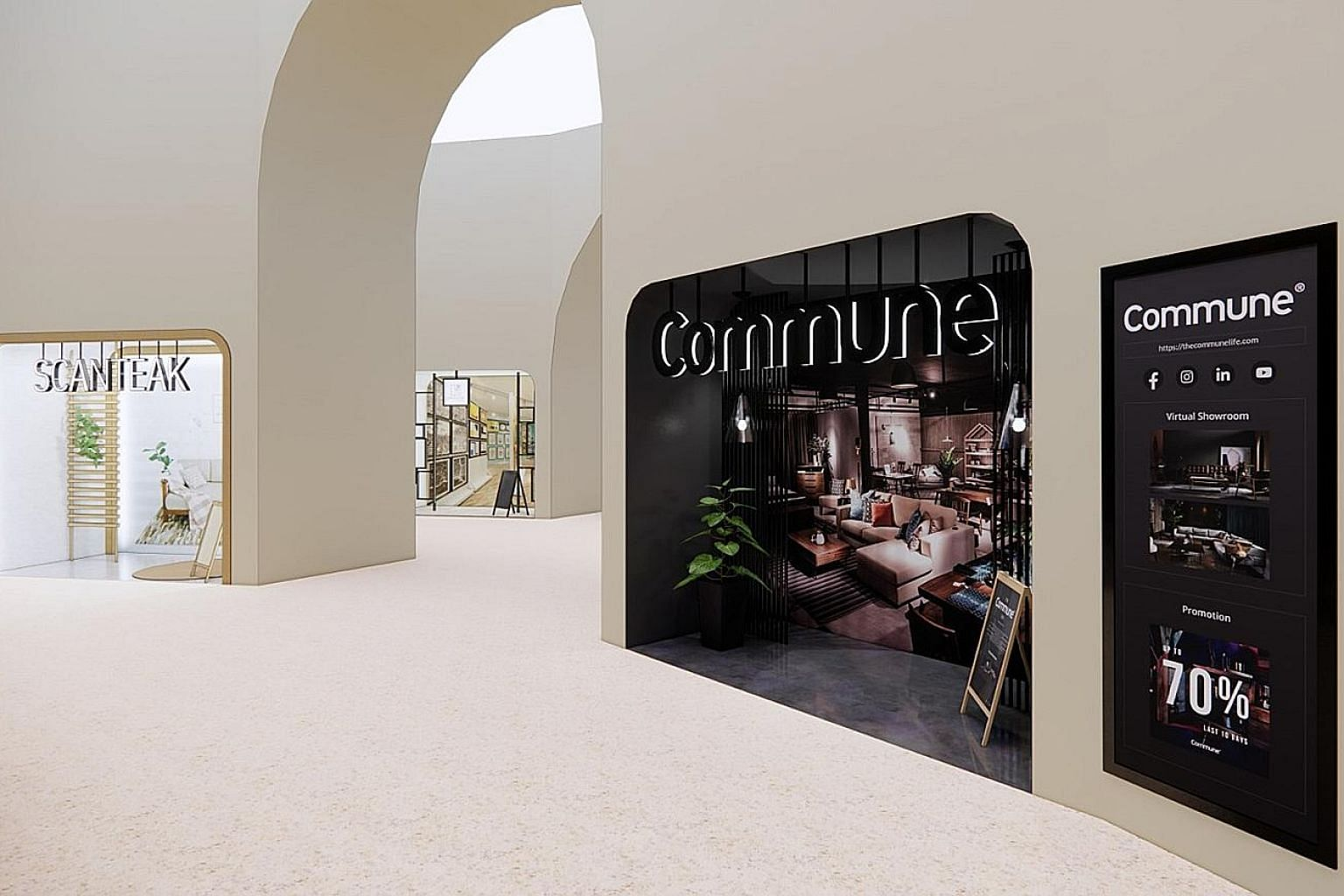 The Great Singapore Sale's virtual mall, called The Furniture Centrum, will feature showrooms for 28 local furniture brands, including Scanteak and Commune. The largely virtual GSS event takes place from today until Oct 10 on the GoSpree.sg platform.