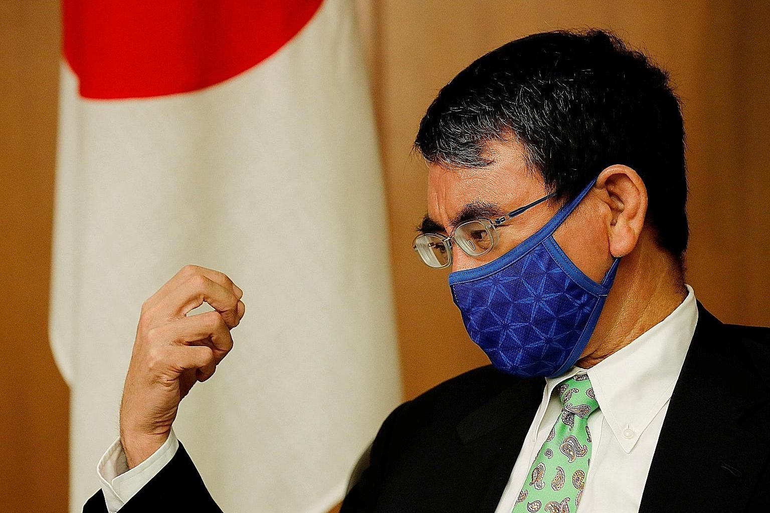 """Japan's Defence Minister Taro Kono has explicitly singled out Beijing as a """"security threat""""."""