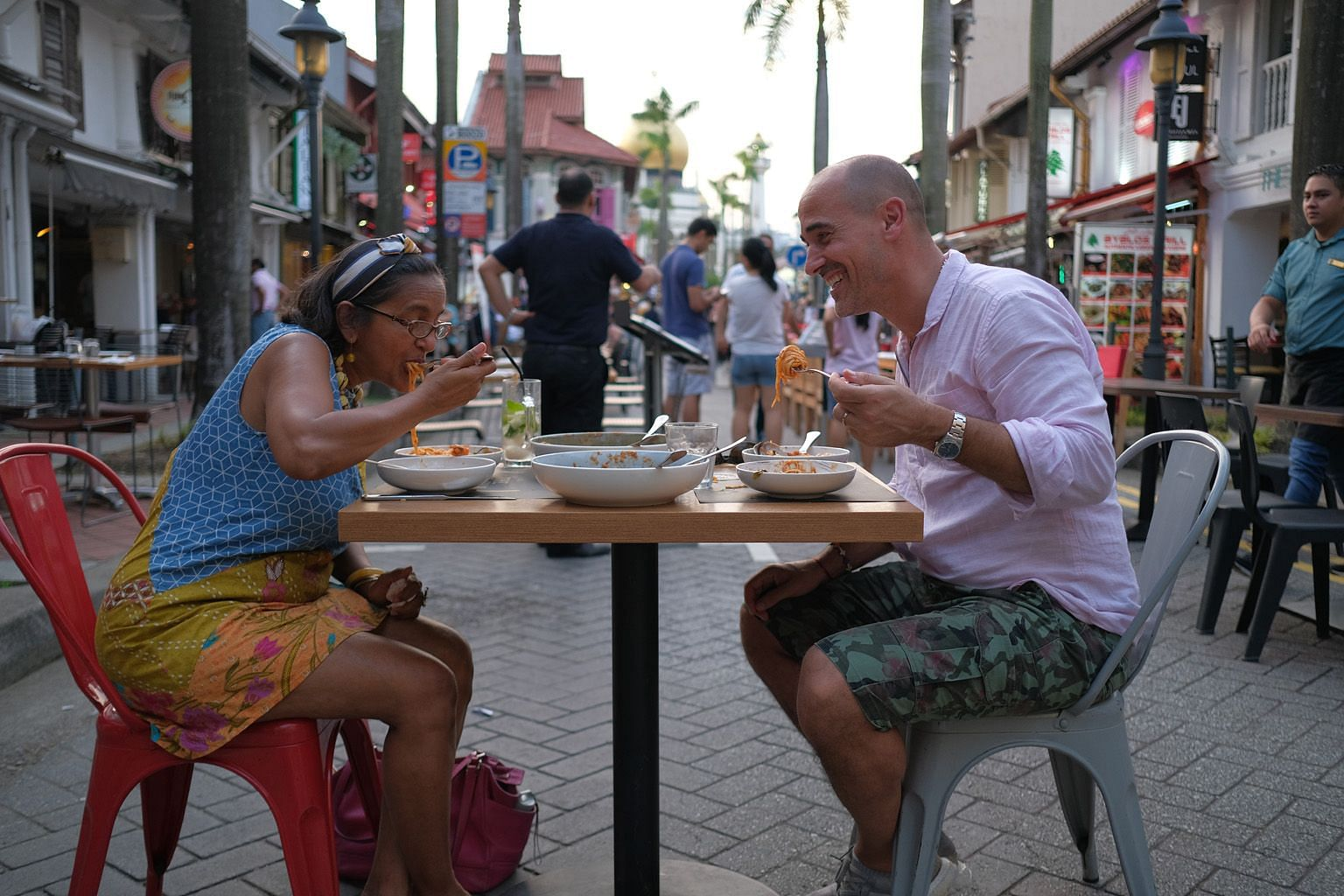Canadian chef David Rocco in the Singapore episode of David Rocco's Dolce Southeast Asia.