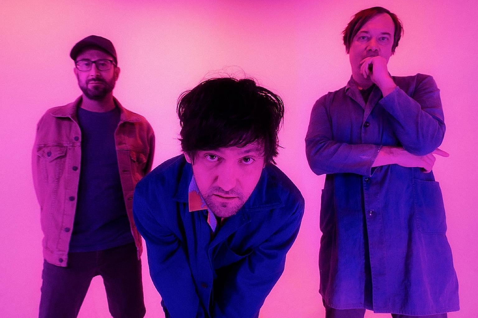(From left) Mike Mogis, Conor Oberst and Nate Walcott of Bright Eyes.