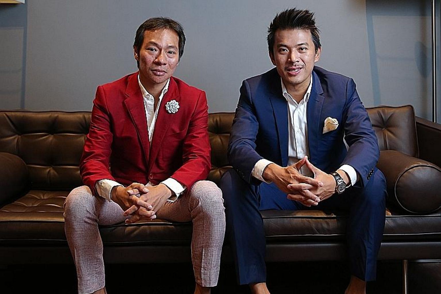 Mr Terence Loh (left) said through his lawyer that he was aware of the police report, while his cousin Nelson Loh could not be reached. ST FILE PHOTO
