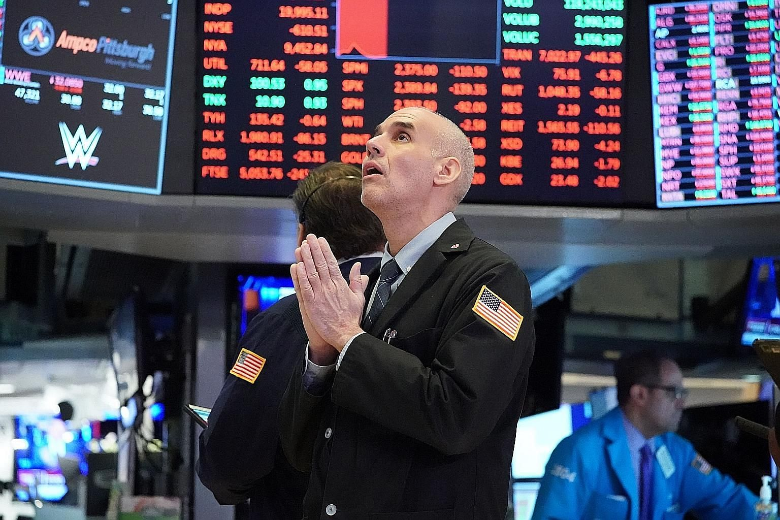 Traders on the floor of the New York Stock Exchange in March. The big market moves since March have been sector-driven, in particular technology and healthcare.