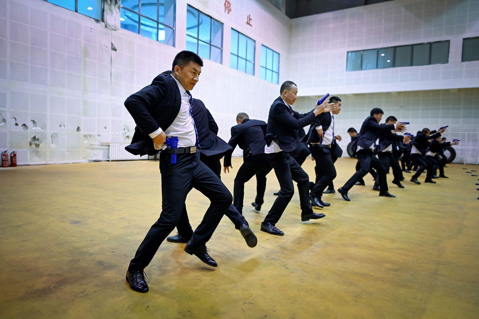 A group of students at a training session at the Genghis Security Academy in Tianjin, China, earlier this month.