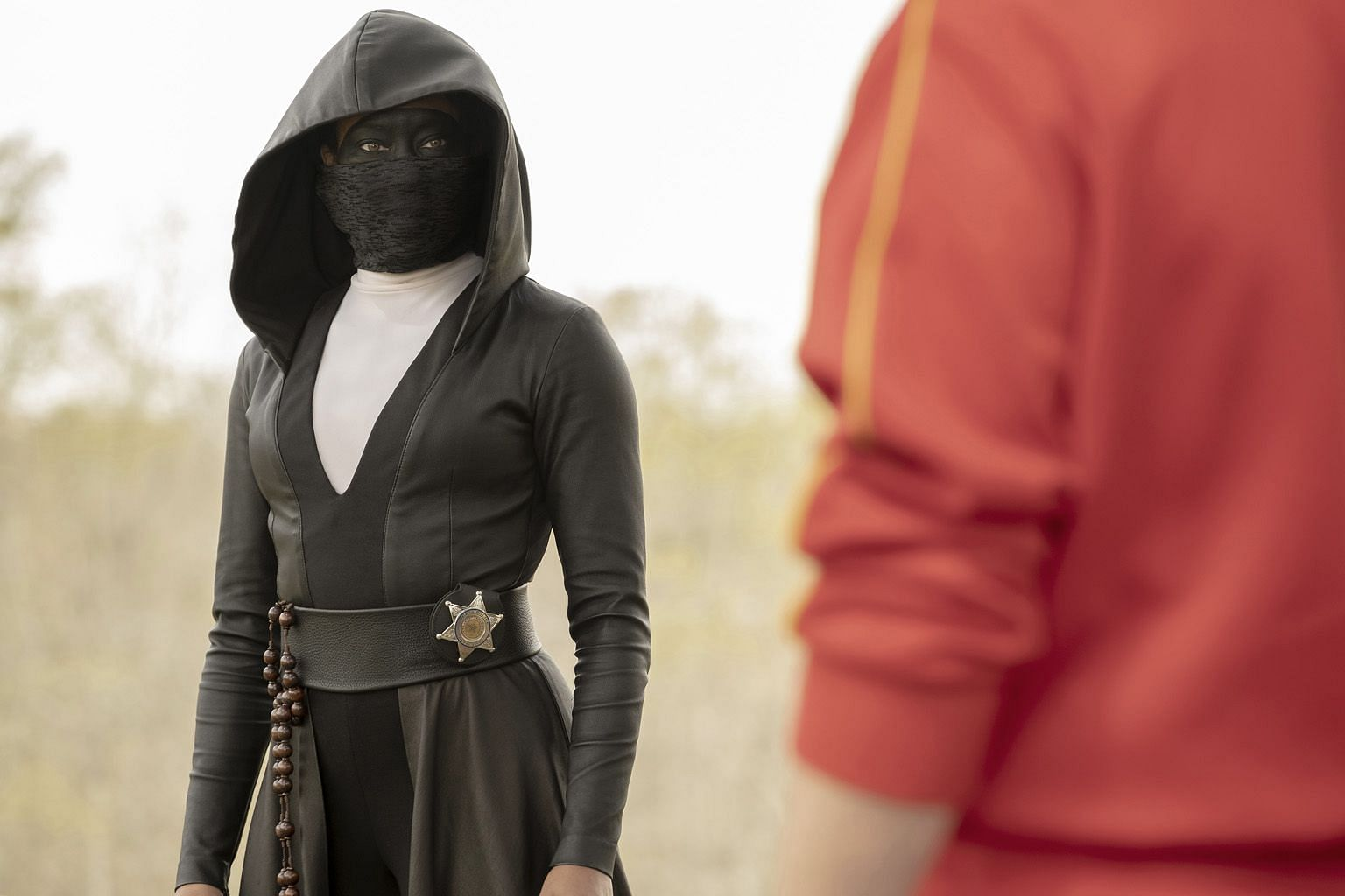 Outstanding Limited Series Award winner Watchmen, starring Regina King (above), is a timely blend of superheroes and political satire that confronts racism in the United States.
