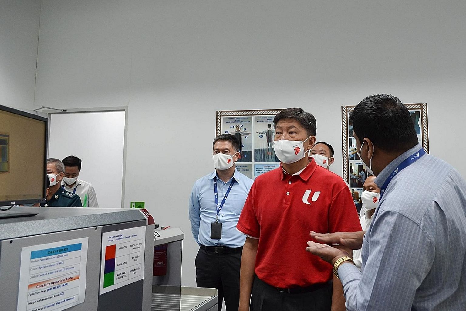 NTUC Secretary-General Ng Chee Meng visiting Aetos, where he witnessed the signing of the Memorandum of Understanding between the company and the Union of Security Employees. PHOTO: AETOS HOLDINGS