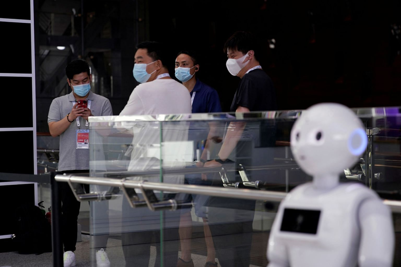 A robot at the World Artificial Intelligence Conference in Shanghai in July. The writer says it is highly unlikely that improved digital skills will be of help to the individual who is confronted with standardisation of knowledge work, labour arbitra