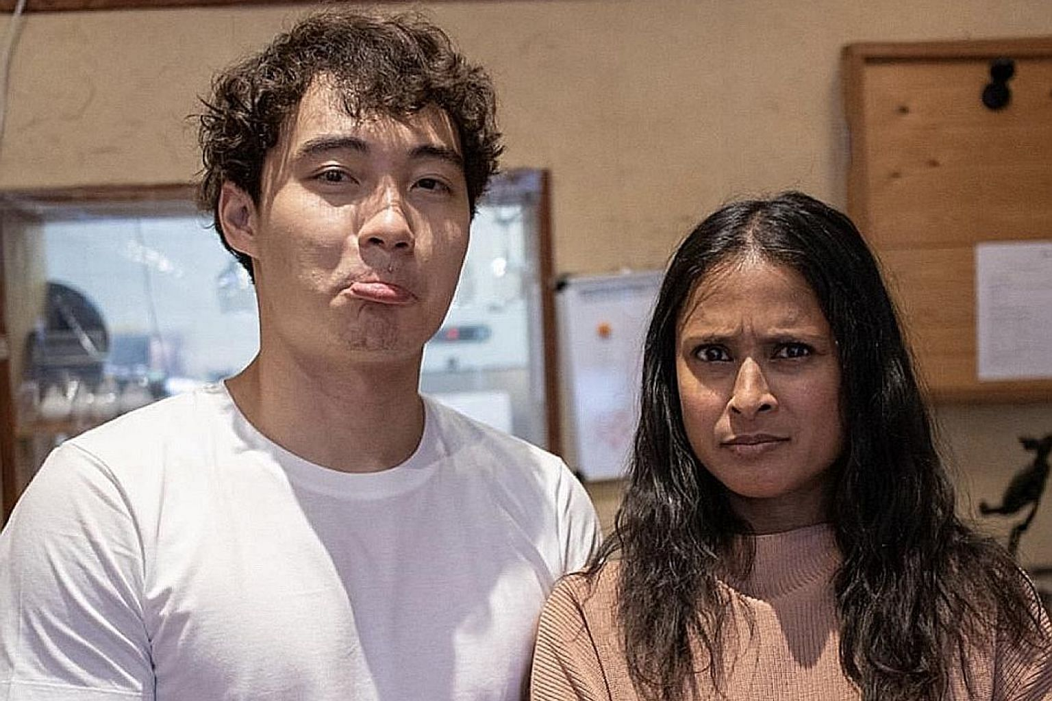 "Nigel Ng as Uncle Roger (left), the Malaysian Chinese uncle persona who uses ""haiya"" liberally to denote his disgust and displeasure. Malaysia-born and London-based comedian Nigel Ng and BBC Food presenter Hersha Patel, who has taken his criticism of"