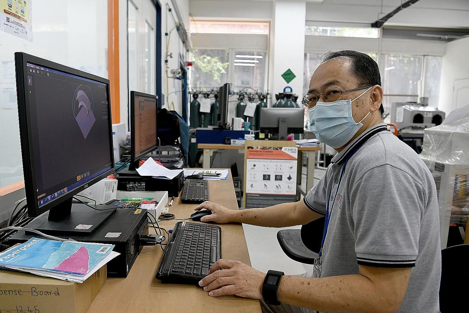 Mr Tim Tan found a job as an operations manager at 3D Metalforge, which specialises in 3D metal printing, in February. He was retrenched from an oil and gas firm just over a year ago, and sought help from Workforce Singapore's Careers Connect. This i
