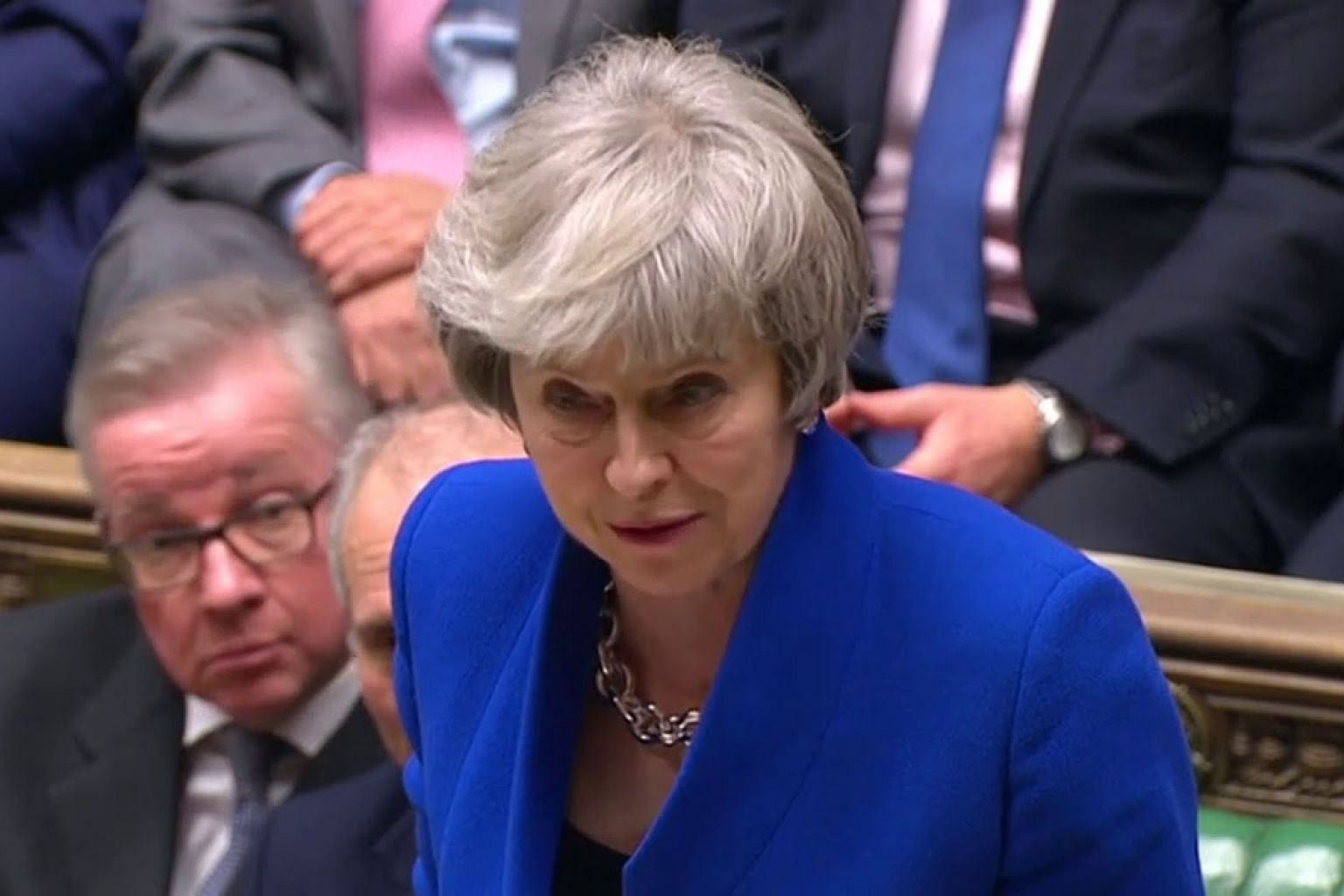 British PM Theresa May's government survives no confidence vote