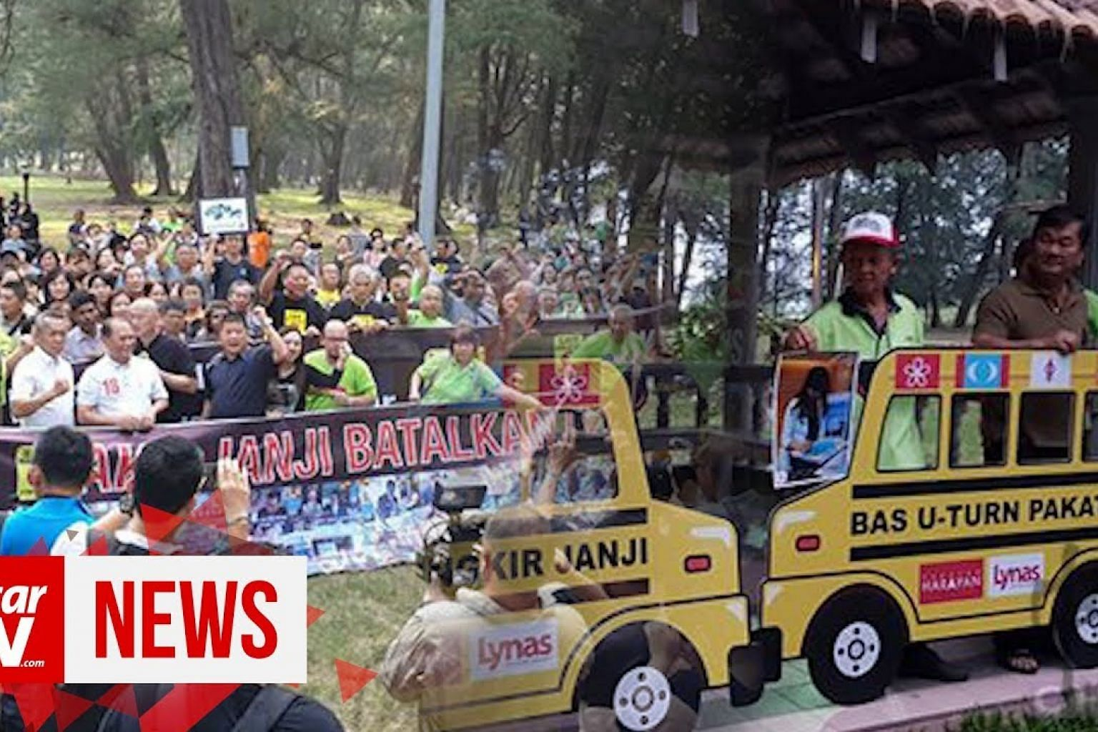 Anti-lynas rally protests against Pakatan's U-turn on manifesto promise