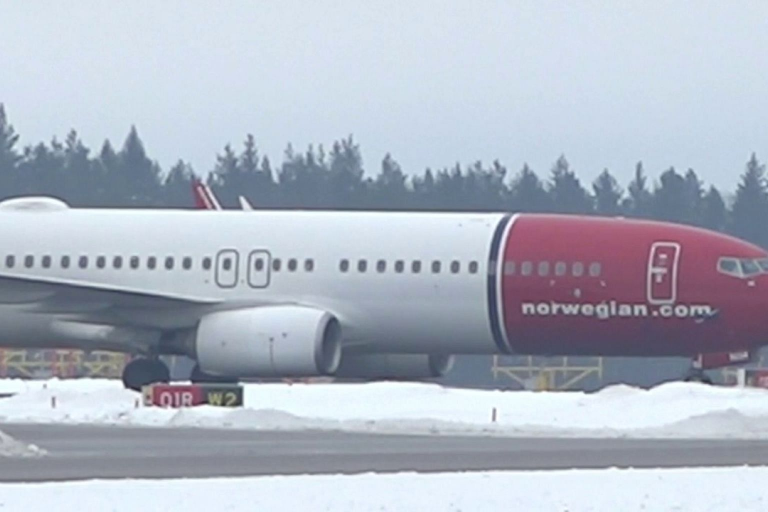 Norwegian flight returns to Stockholm airport after bomb threat
