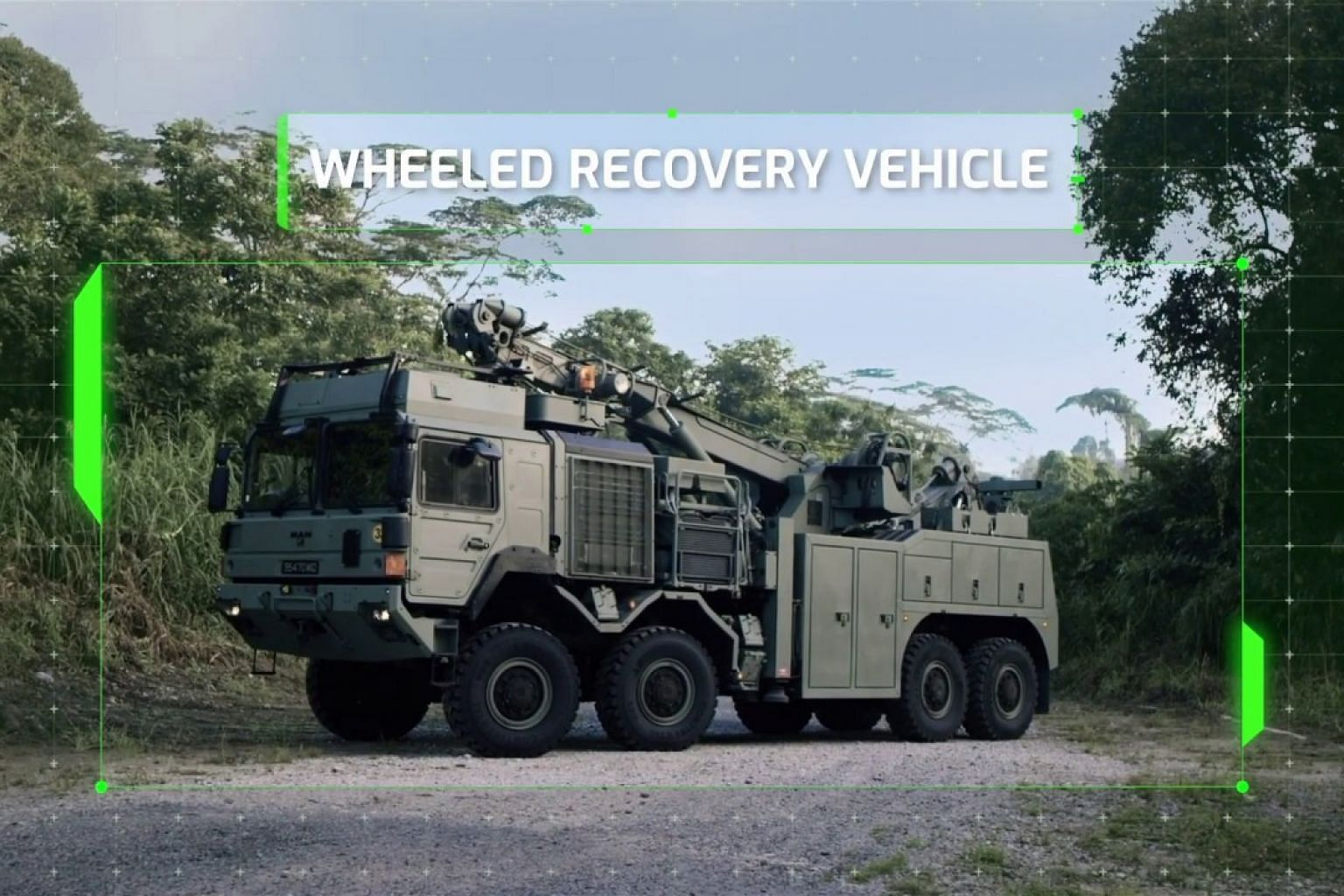 The Singapore Army's new Wheeled Recovery Vehicle