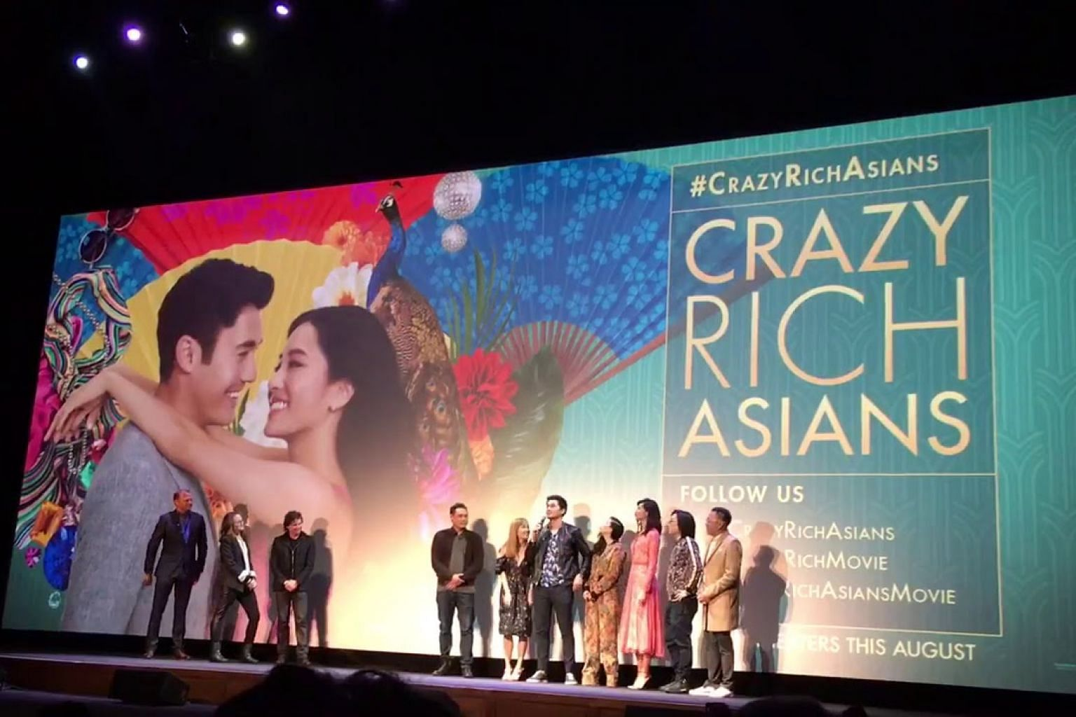 The first public screening of Crazy Rich Asians in Los Angeles
