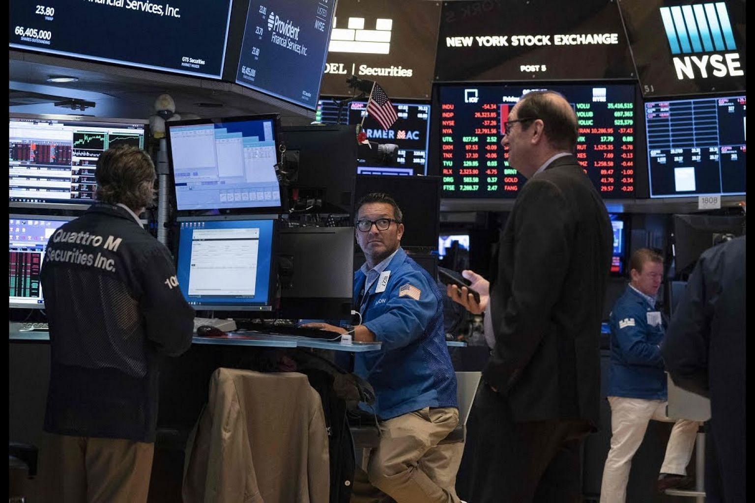 Wall Street ends wild week with a drop