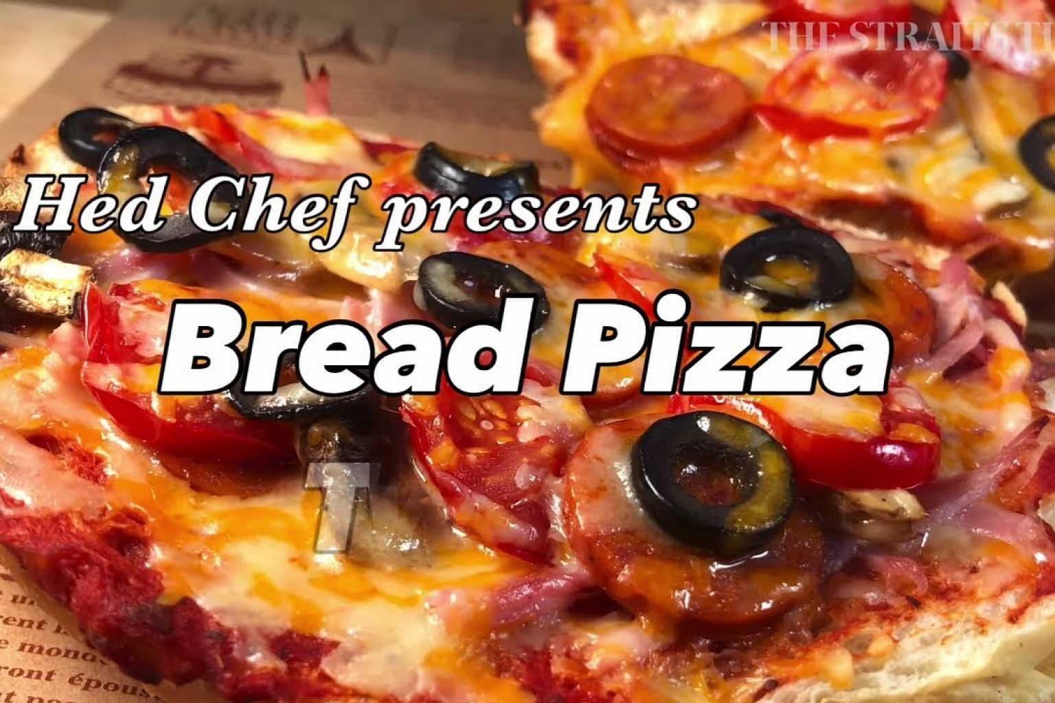 How to make bread pizza | Hed Chef | The Straits Times