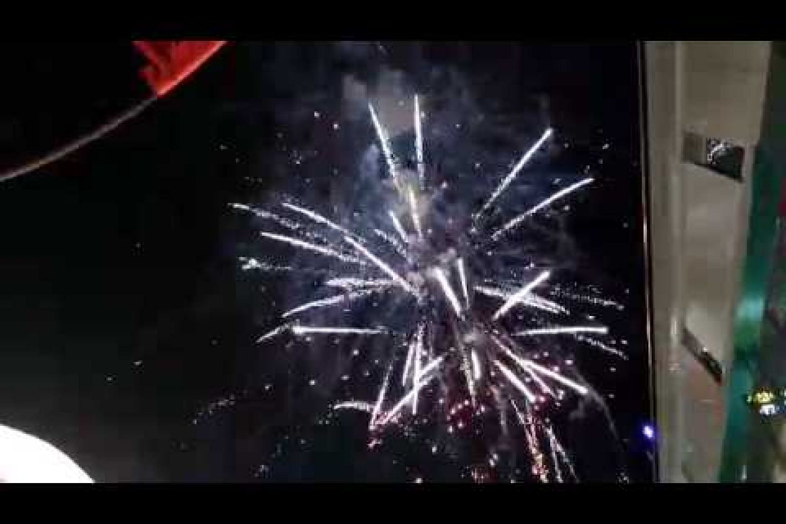 Fireworks on the second day of the Singapore Coffee Festival 2017