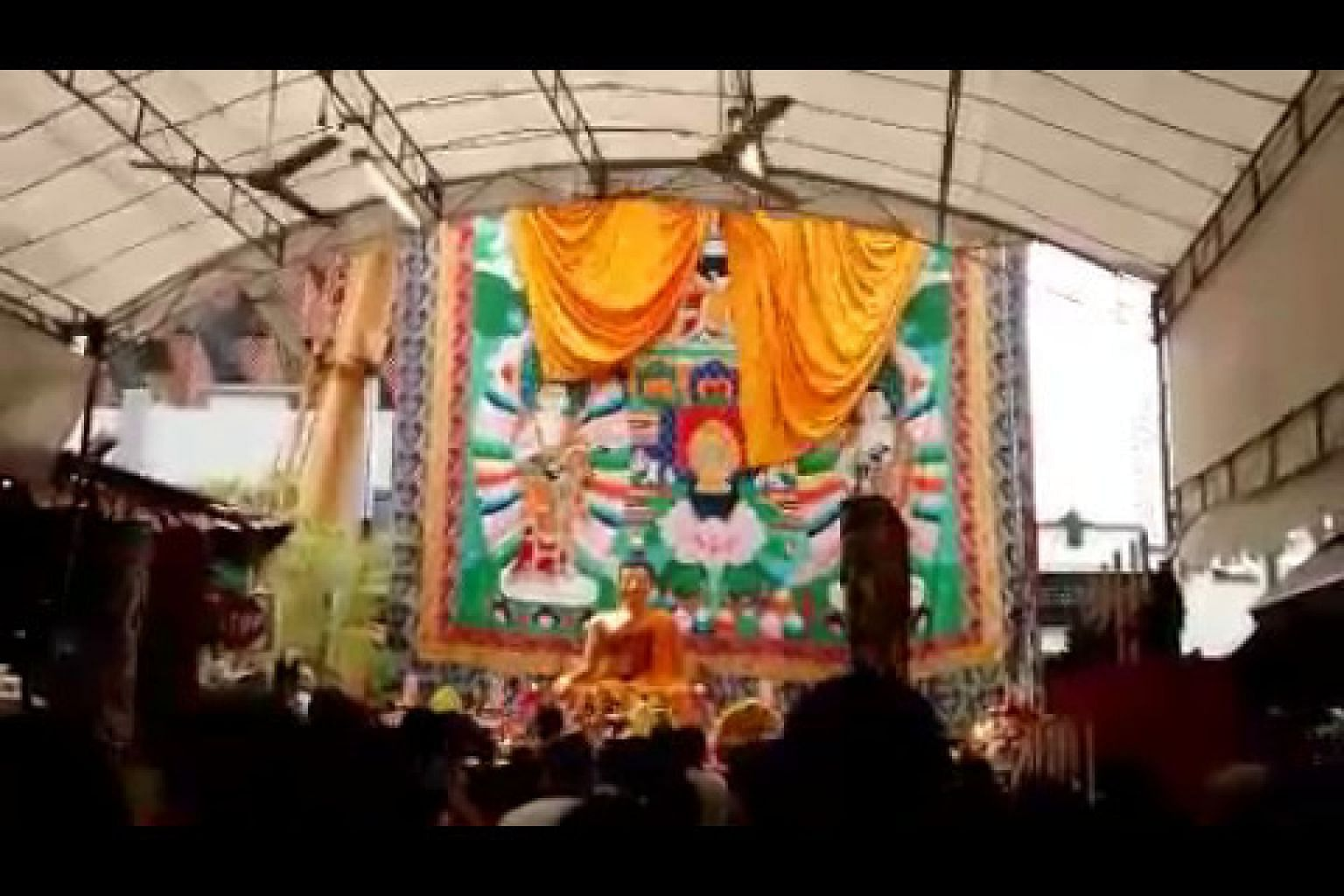 Vesak Day: The unveiling of the thangka