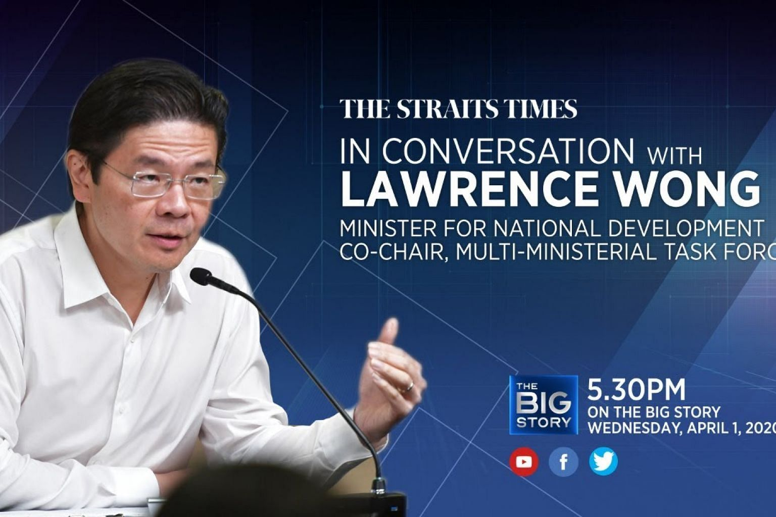 In Conversation with National Development Minister Lawrence Wong | THE BIG STORY