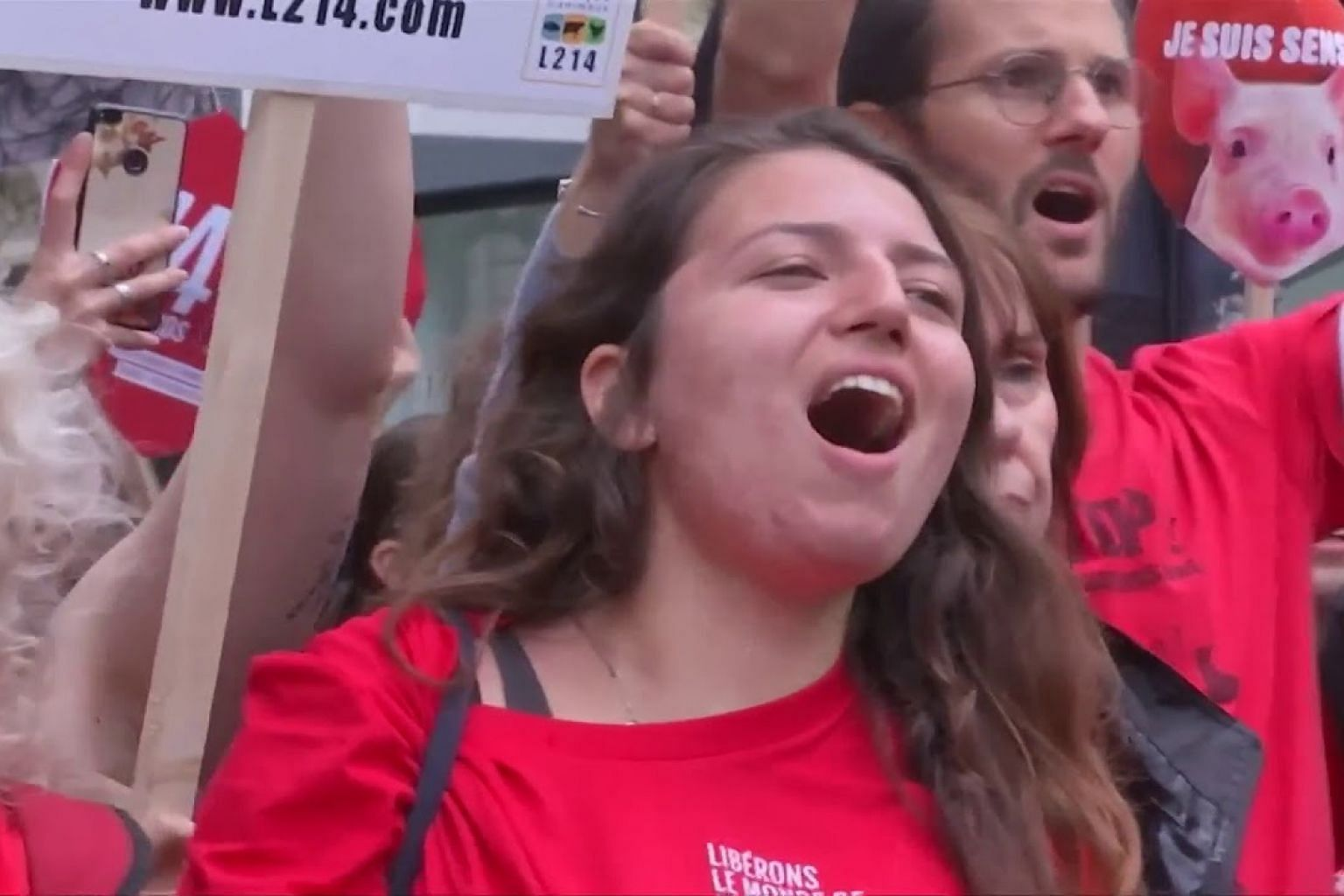 'Freedom can't wait': Hundreds march in Paris to call for closure of slaughterhouses