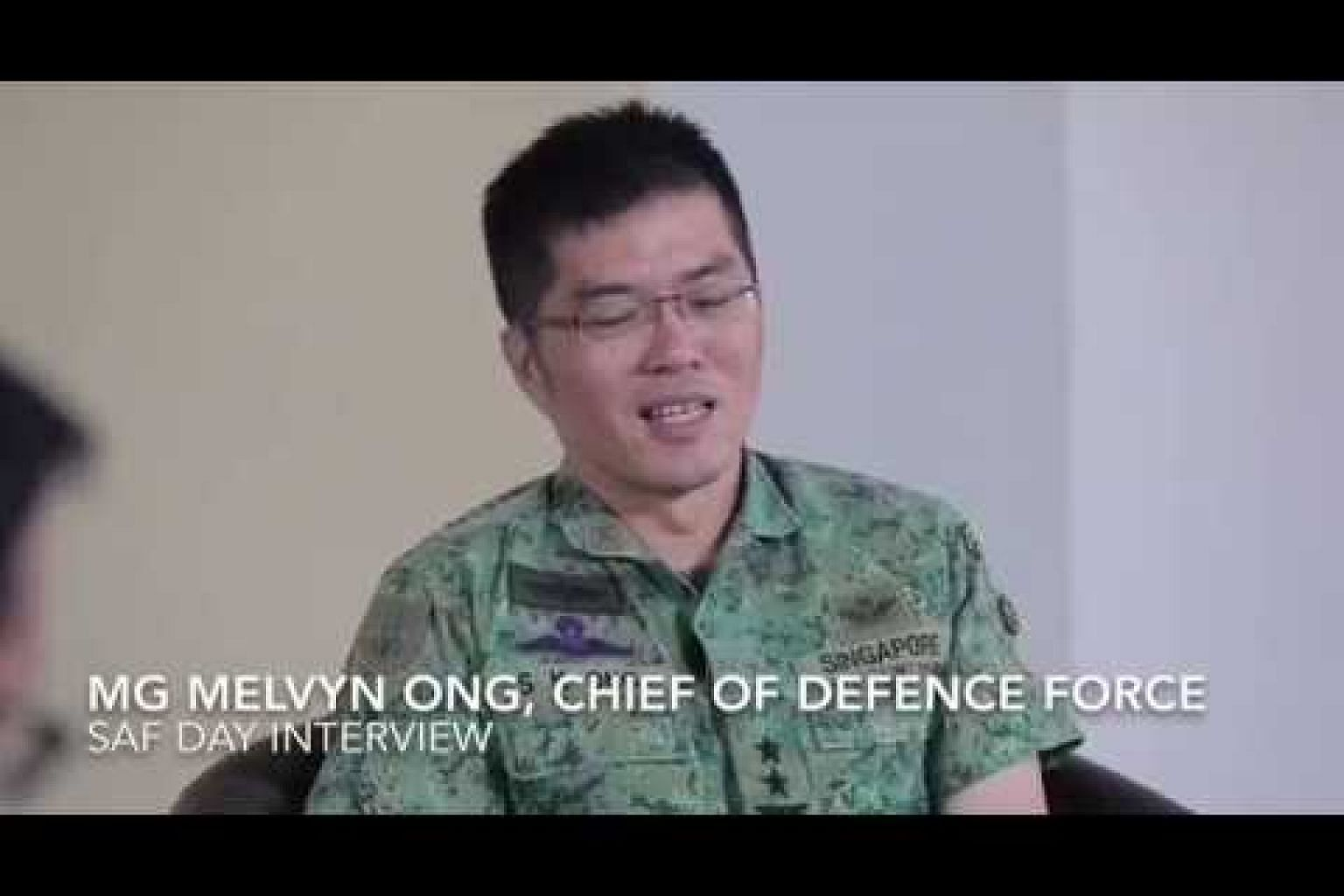 SAF Day interview with Chief of Defence Force Major-General Melvyn Ong
