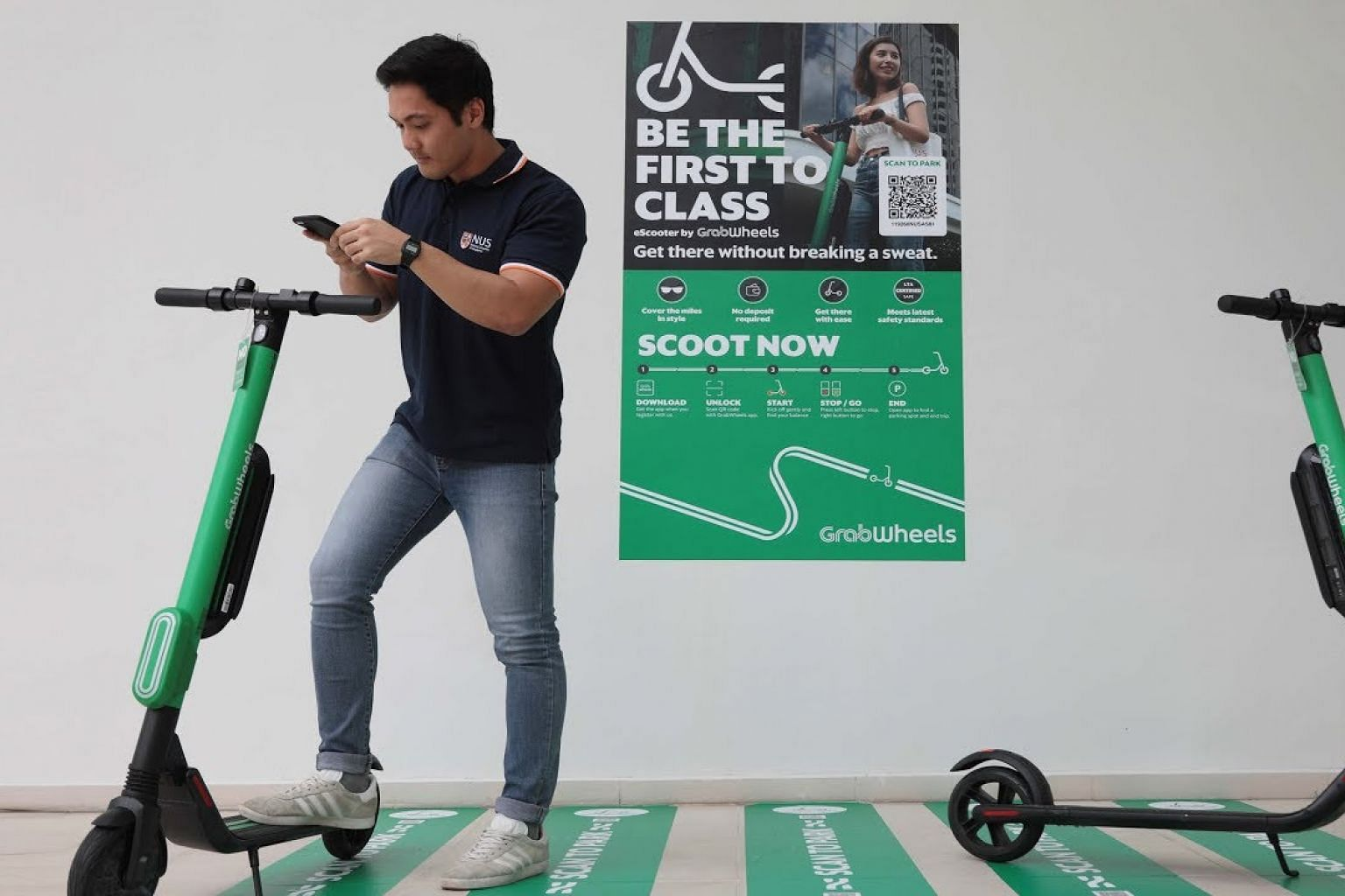 Grab partners NUS to pilot new electric scooter sharing service on campus