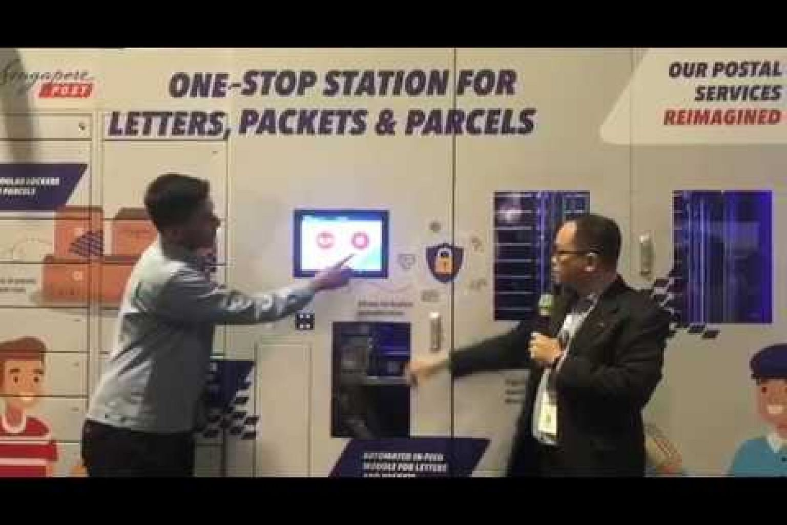 Demo of SingPost's smart stamp and letterbox system