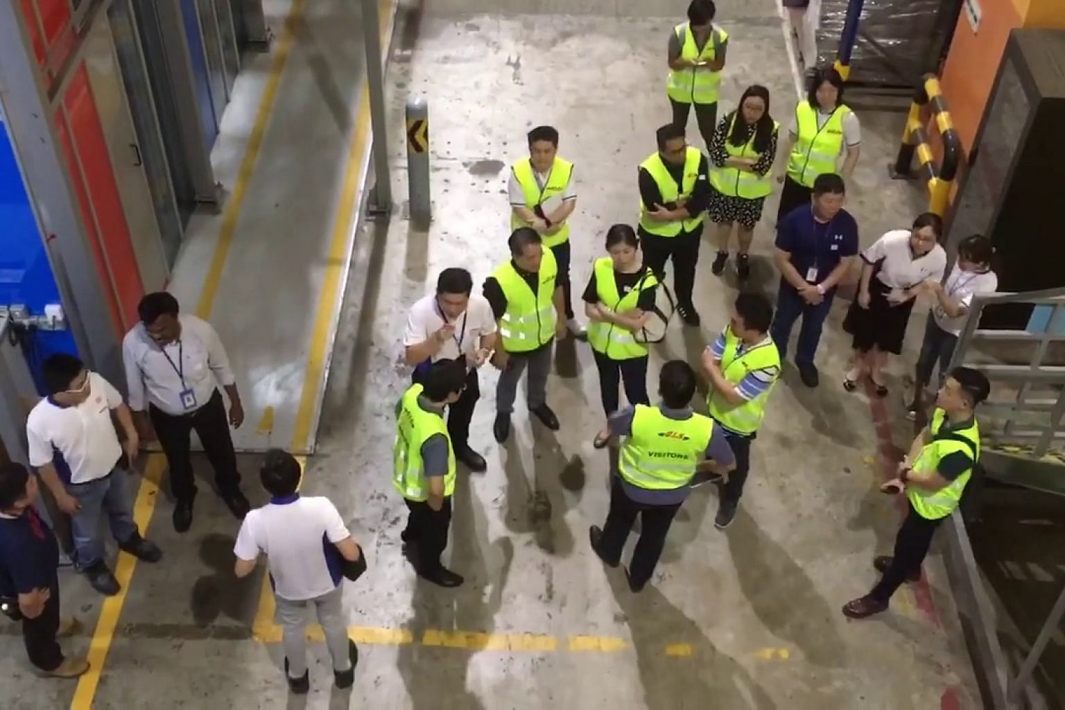 Minister for Trade and Industry Chan Chun Sing tours NTUC FairPrice's Benoi Distribution Centre