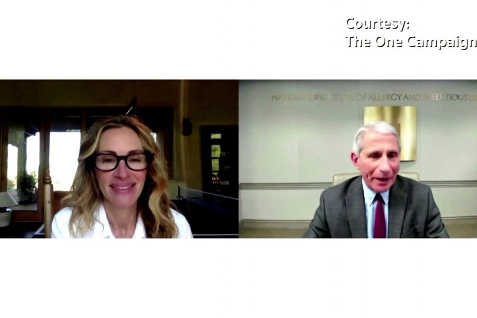 Dr Anthony Fauci talks health disparities with Julia Roberts