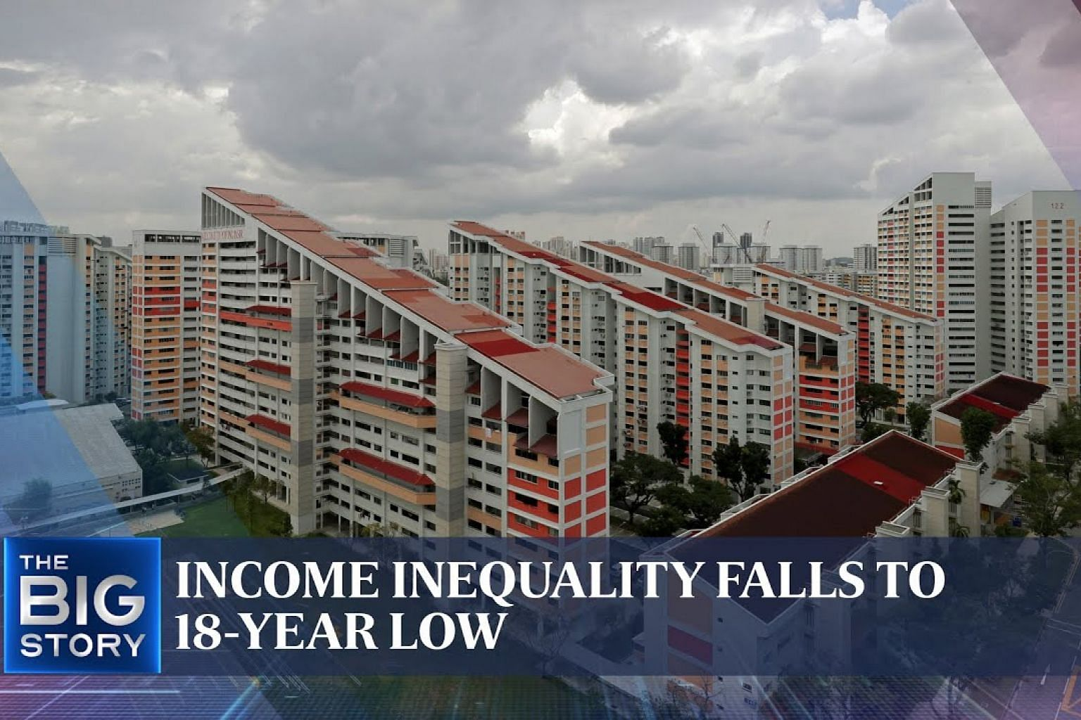 Income inequality falls to narrowest in two decades