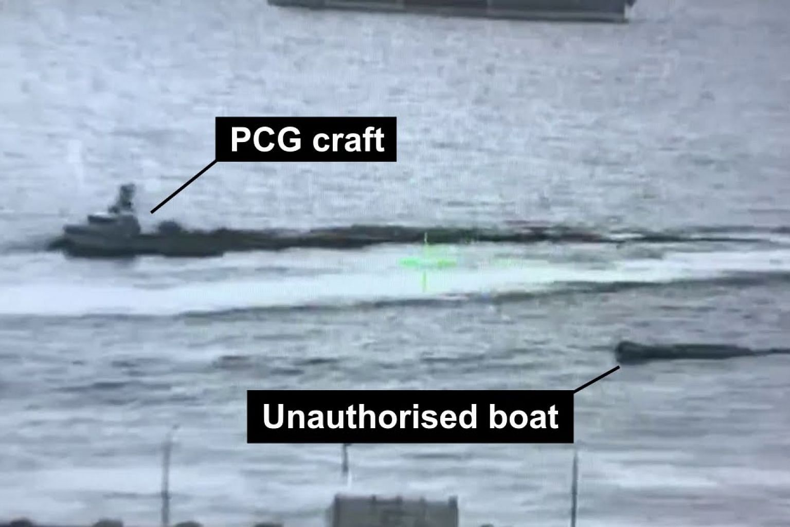 Police coast guard intercepting an unauthorised boat