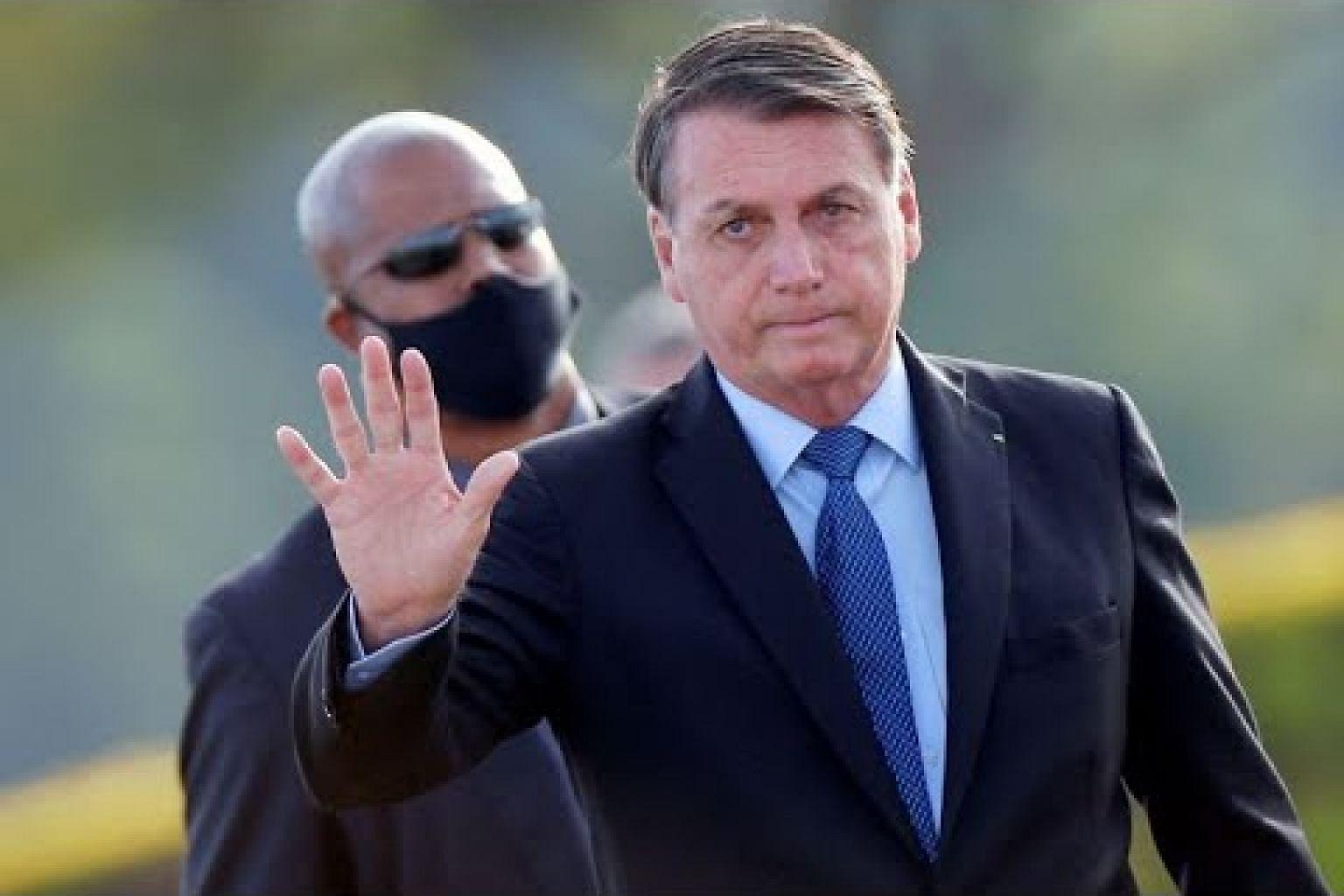Brazil's President Jair Bolsonaro tests positive for coronavirus