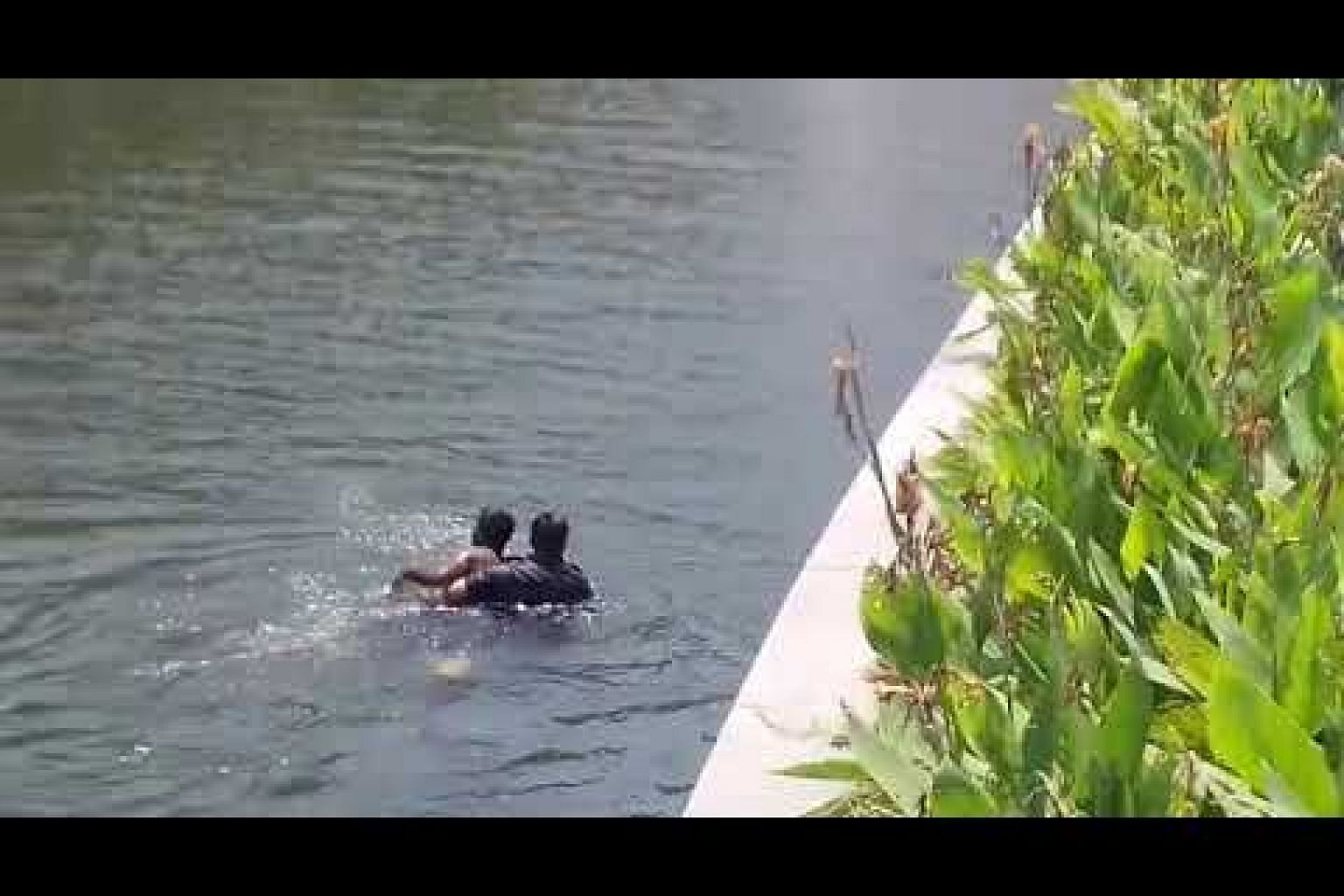 Police officer jumping into Rochor Canal to nab alleged molester
