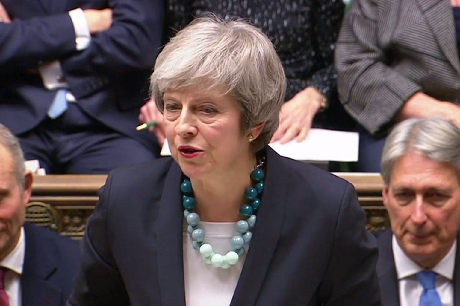 British PM Theresa May says will delay parliament vote on Brexit deal
