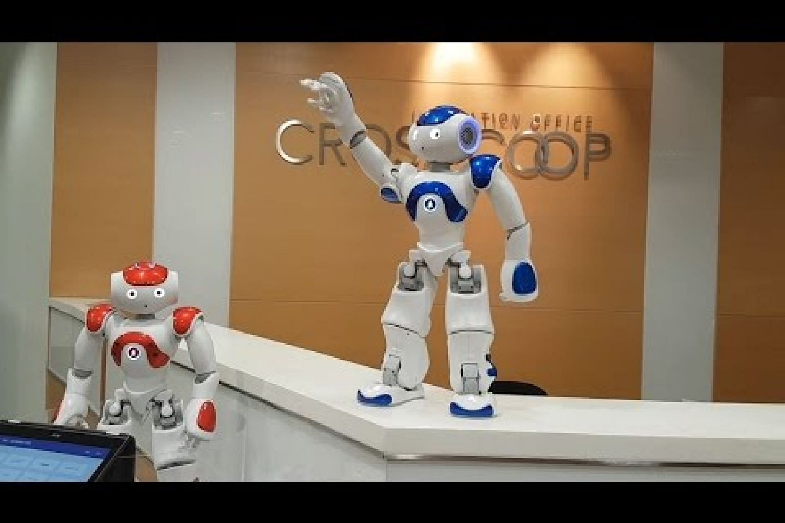 Robot NAO showing off its dance moves