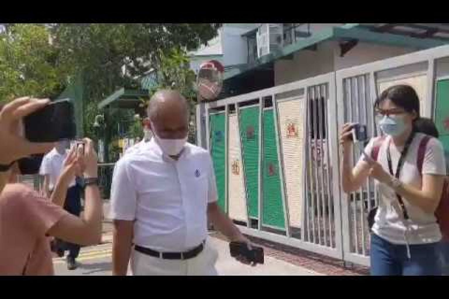Incumbent Tampines GRC MP Masagos Zulkifli was seen with incumbent Ang Mo Kio GRC MP Koh Poh Koon.