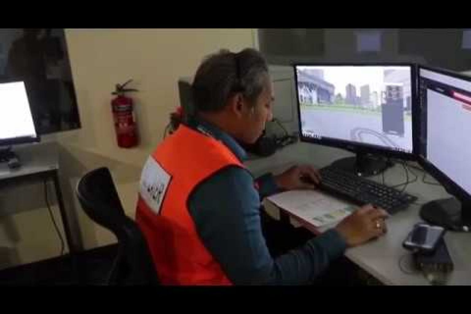 Demonstration of Home Team Simulation System in action