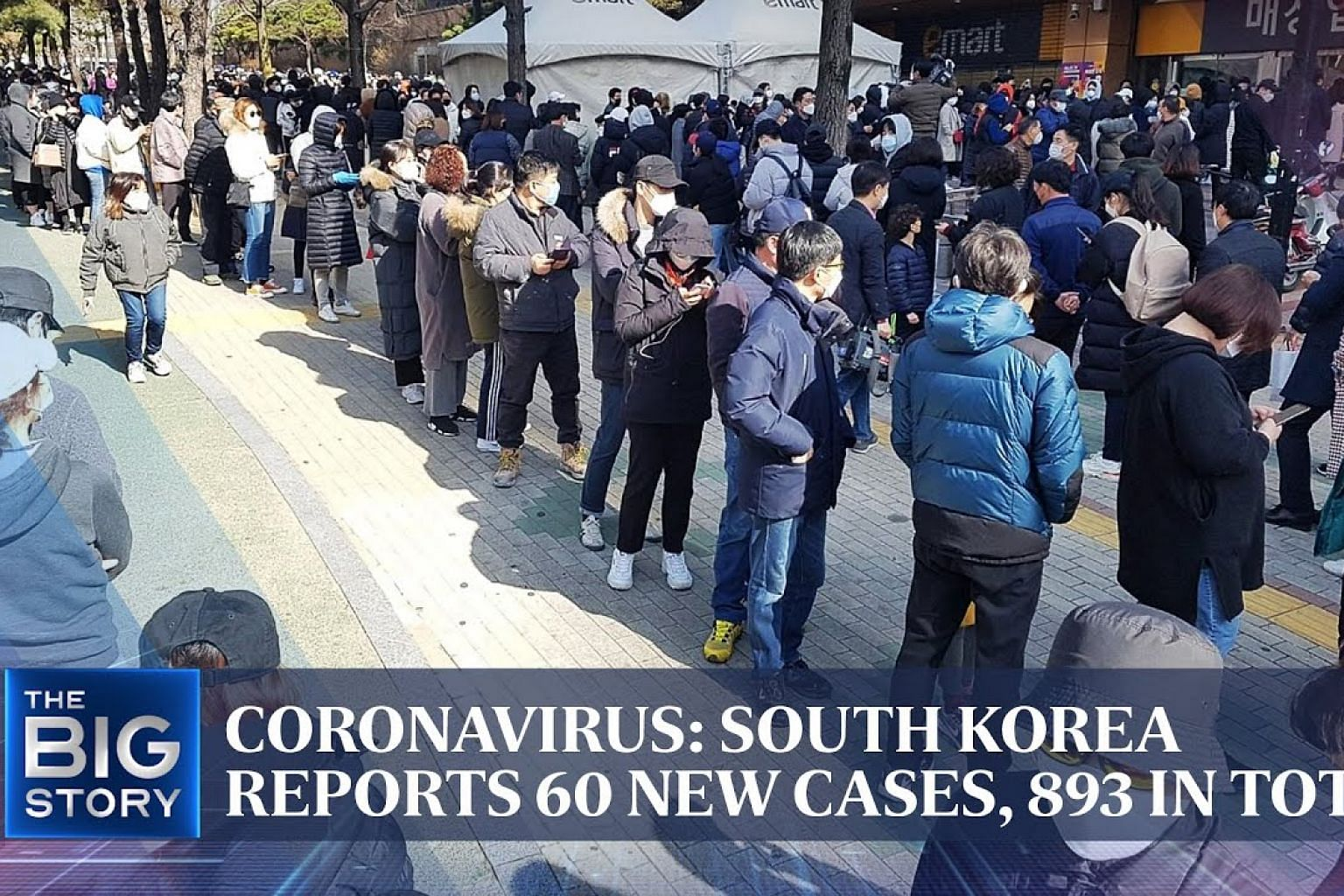 Coronavirus: South Korea reports 60 new cases, 893 in total | THE BIG STORY | The Straits Times