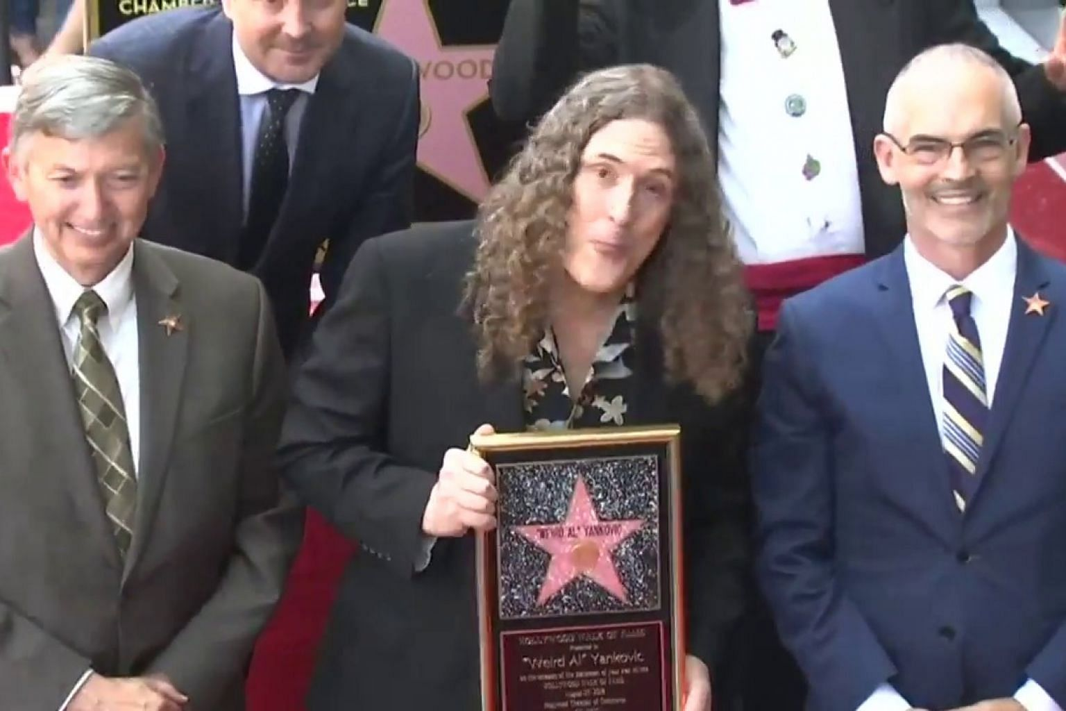 """Weird Al"" Yankovic honoured with Hollywood star"