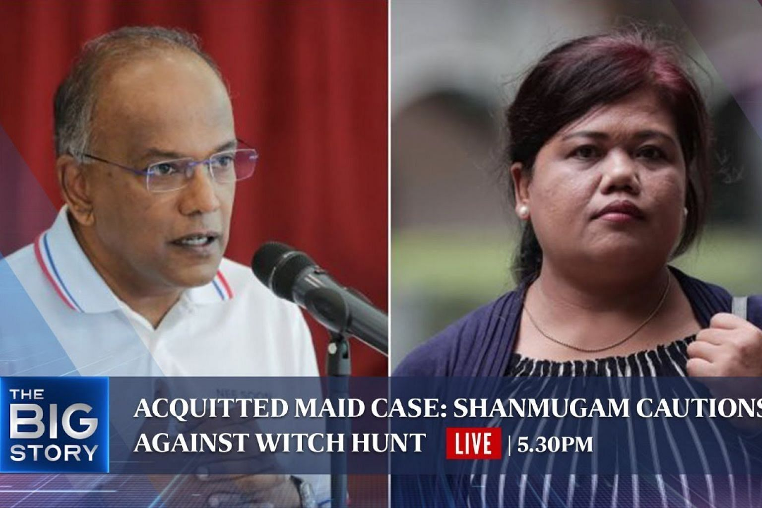 Acquitted maid case: Shanmugam cautions against witch hunt   THE BIG STORY