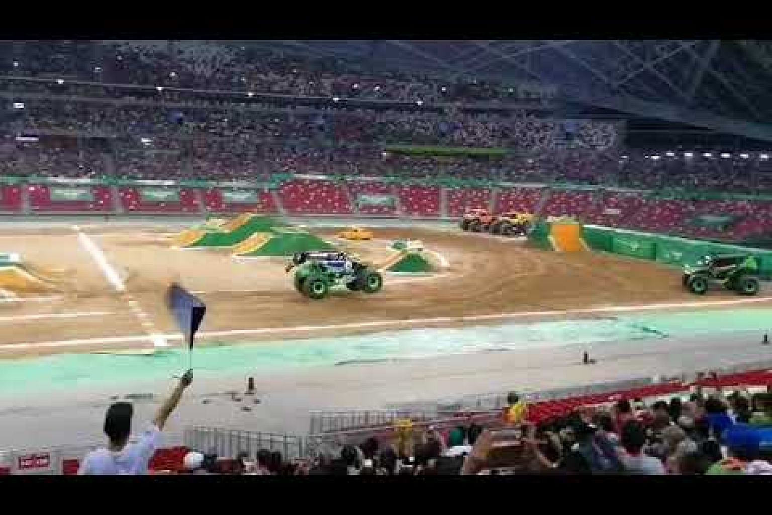 Grave Digger emerges champion in the final race round at Monster Jam Singapore.