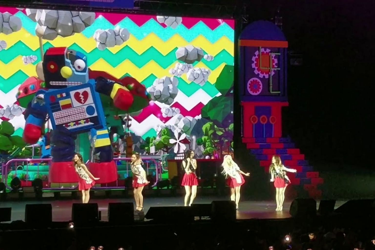 One woman down but Red Velvet pulls off high-energy performance