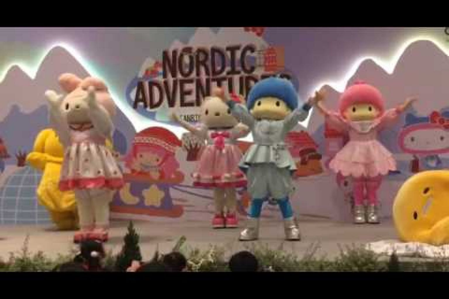 Sanrio characters' song and dance
