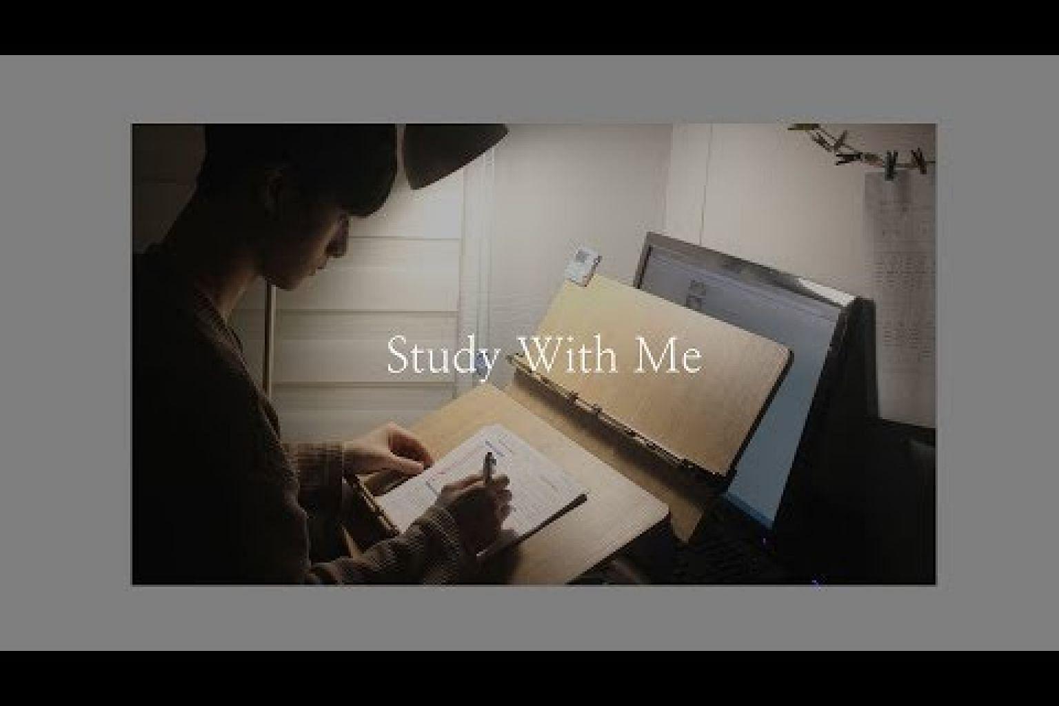 같이 공부해요/study with me/빗소리or장작타는소리