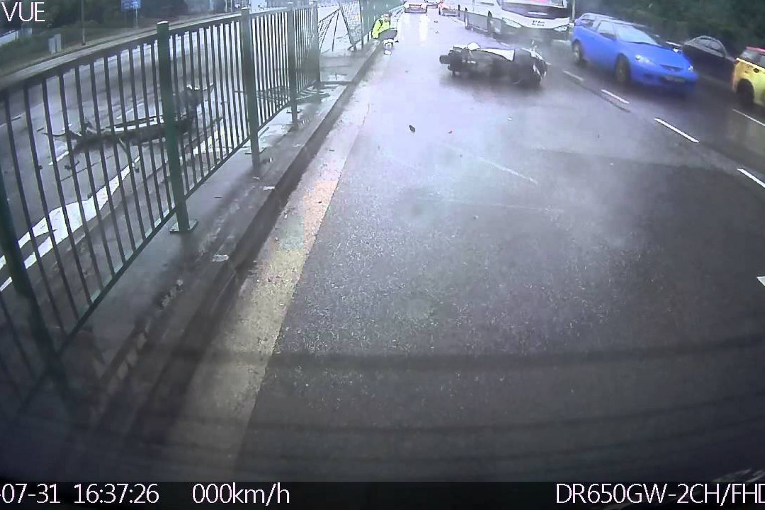 [Hit&Run Accident] Jurong Town Hall Road 31/07/2015 - Part 1