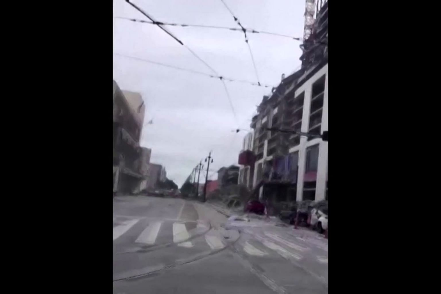 Video captures Hard Rock Hotel's collapse, ensuing chaos
