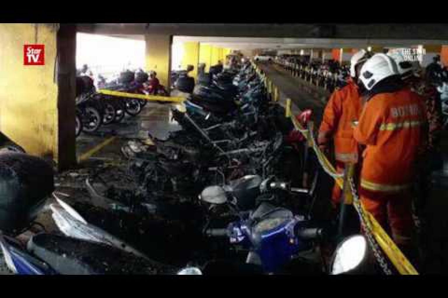 Fire destroys 13 motorcycles in Seremban bus station